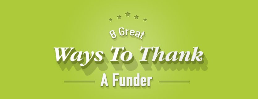 Say thanks to your funders